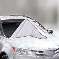 Car Windshield Cover for Winter Snow Removal- Magnetic Snow, Ice and Frost Guard - Fits SUV, Truck & Car Windshields - Auto Windshield Snow Cover - Large - Outback Shades