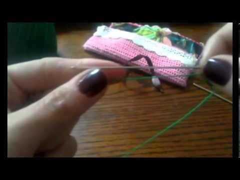 Frivolite con aguja como unir los anillos 4 leccion - YouTube
