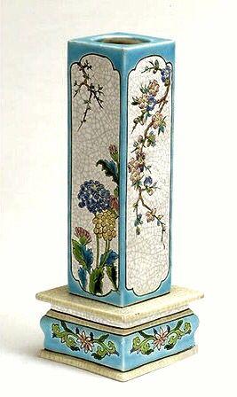 A Longwy ceramic vase