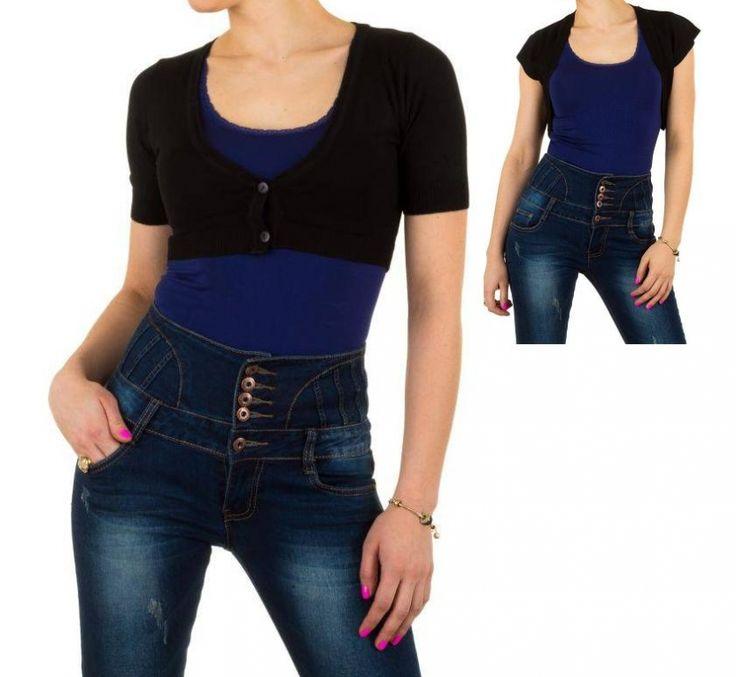 Bolero met korte mouw zonder of met knoopjes zwart €9,99 http://www.mini-jurken.nl/webshop/dameskleding/boleros/detail/1009/bolero-met-korte-mouw-zonder-of-met-knoopjes-zwart.html