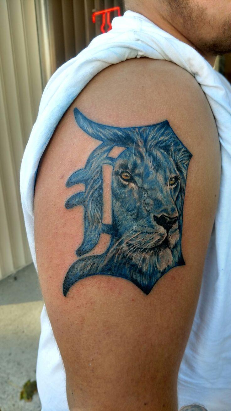 Detroit Lions/Tigers Tattoo