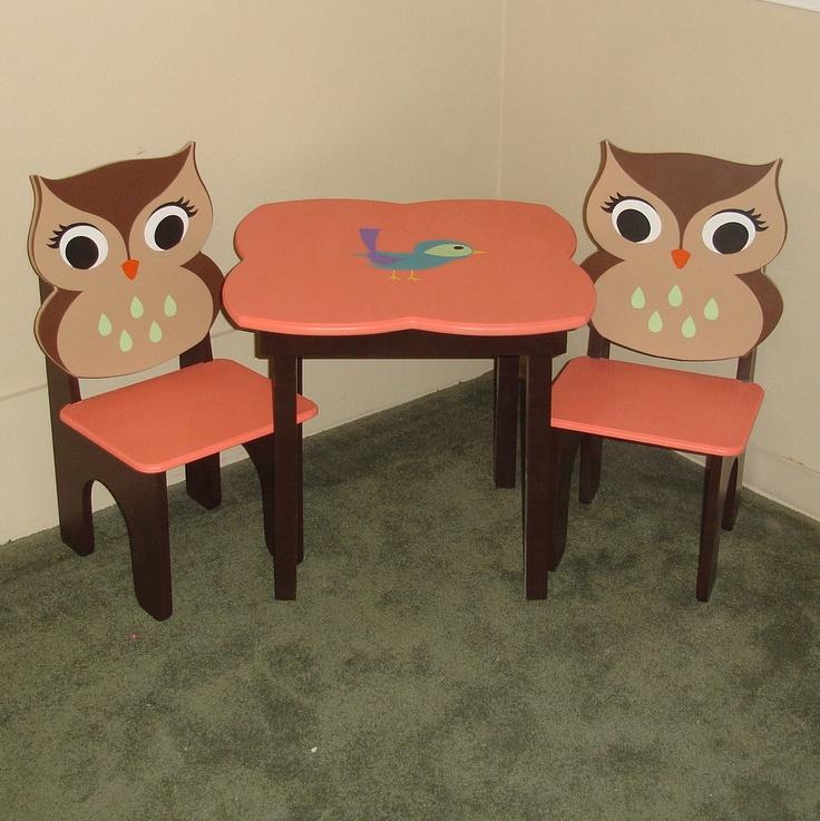 Childu0027s Table U0026 Chair Set Owl