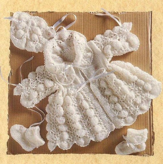 Vintage Baby 'Pippy Shell' Matinee Set Bonnet by whitesatin, $1.47