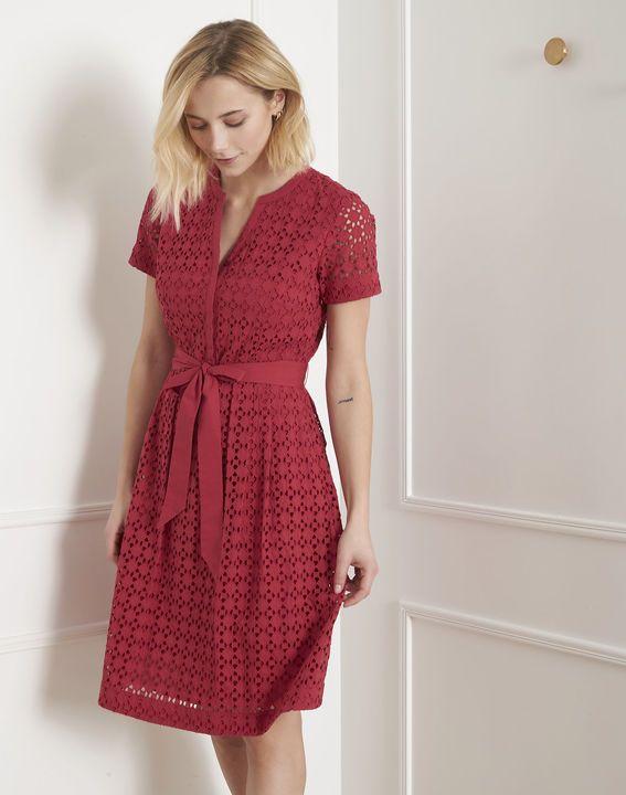vente chaude authentique mode Meilleure vente Robe rouge en dentelle cintrée Loreta   wedding en 2019 ...