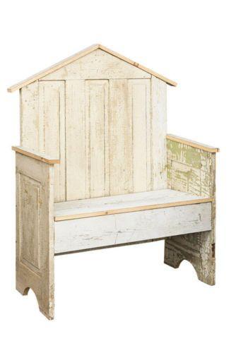 GARDEN DISPLAY BENCH Repurposed Antique Farmhouse Door Furniture Handmade