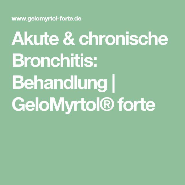 Akute & chronische Bronchitis: Behandlung   GeloMyrtol® forte