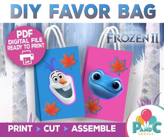 Frozen 2 Party Favor Bags Frozen 2 Party Supplies Treat Bags