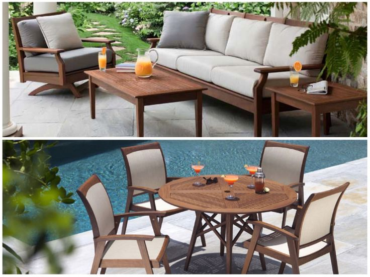 Outdoor #wood Furniture By Jensen Leisure | 50 Luxury Patio Furniture  Collections