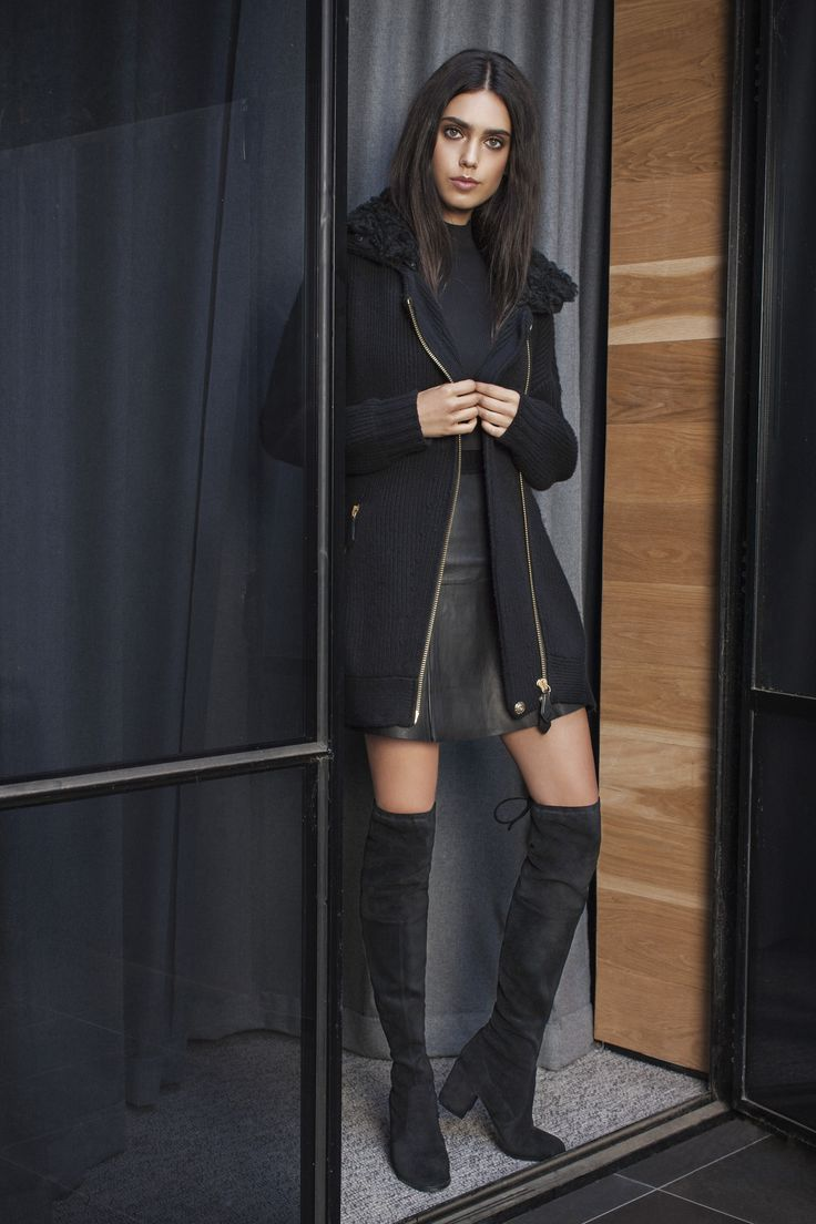 Talia Berman wearing Over the Knee Boots Agogo. Photographed by Nick Scott, Makeup by Mae Taylor. Shot on location in Brighton, Melbourne, Australia.