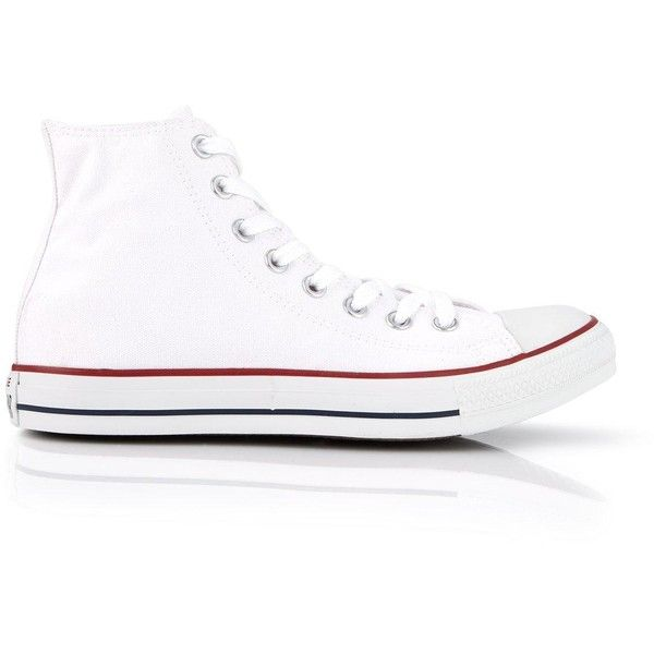 Converse Chuck Taylor All Star High Rise Trainers (1.030 ARS) ❤ liked on Polyvore featuring shoes, sneakers, white, white trainers, white shoes, converse footwear, star sneakers and converse sneakers