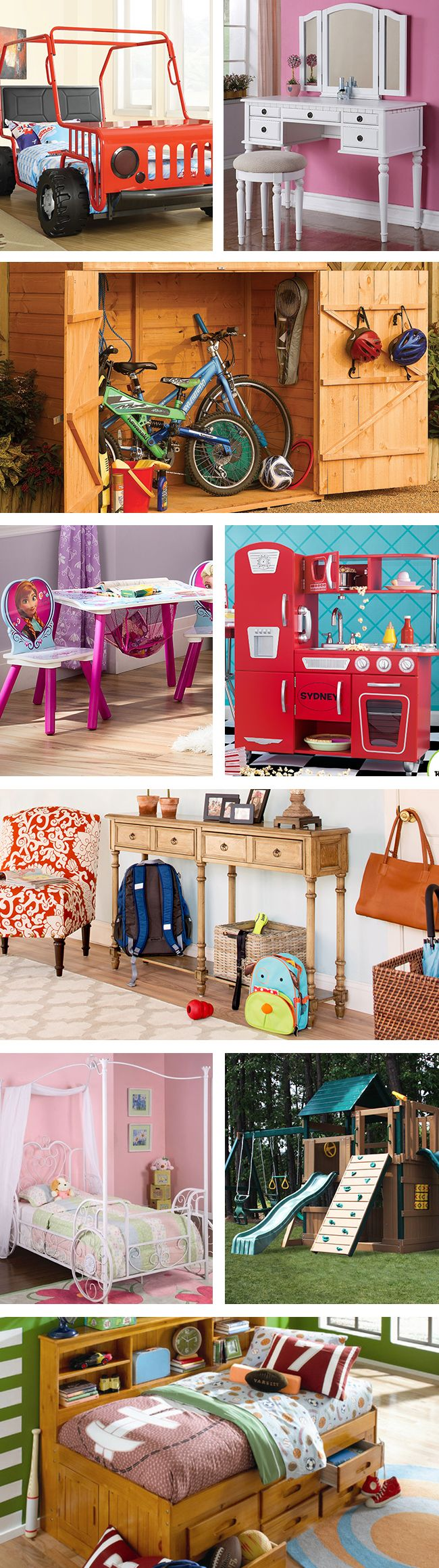 With growing kids, your home needs some changes as well. From best-selling kids beds to home organization to pretend playsets, we have everything you need to keep the mayhem to a minimum. Visit Wayfair and sign up today to get access to exclusive deals everyday up to 70% off. Free shipping on all orders over $49.