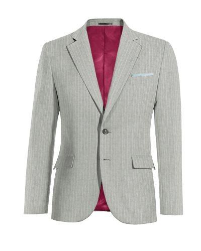 Grey striped linen Blazer - http://www.tailor4less.com/en-us/men/blazers/3284-grey-striped-linen-blazer