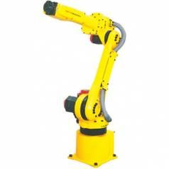 The FANUC ArcMate 100i is an electric servo-driven robot designed for precise, high-speed welding and cutting. With its wrist size reduced for smaller openings, the Arc Mate 100i industrial welding robot will fill many needs on the manufacturing floor.