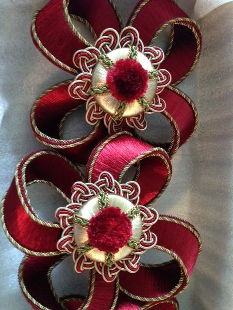 Tudor Collection Rose Passementerie design.by Wendy Cushing.