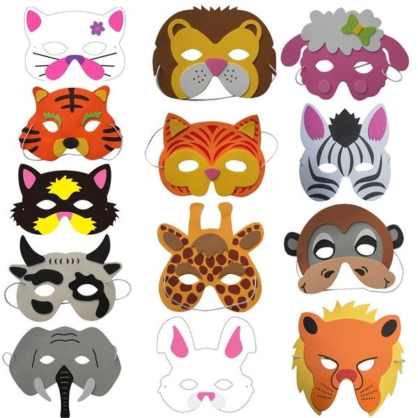 Animal Foam Face Mask Masks Fancy Dress Costume Jungle Party mask theme party