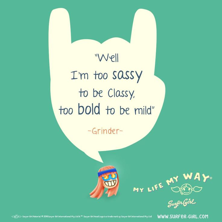 Tag a sassy friend <3 A little sass is needed from time to time ;) That's why I love my Girl G.G. & her sass to the moon & back ^^ Love, Summer <3 #surfergirl #quote #girlsquote #quoteoftheday #funnyquote #dailyquote