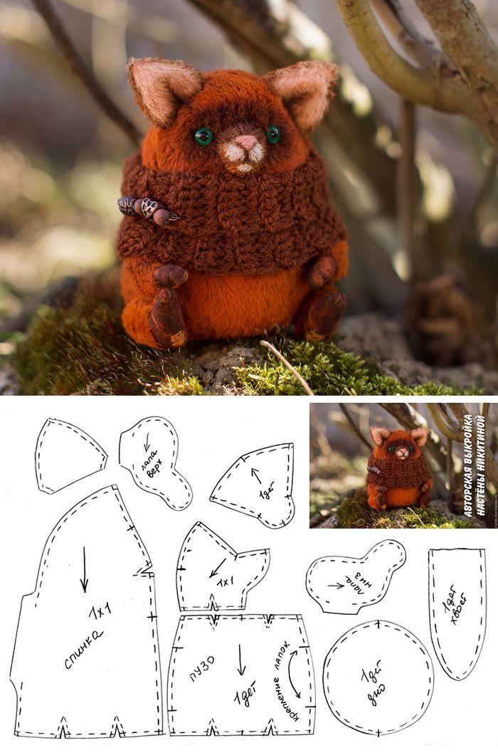 Teddy cat toy free pattern