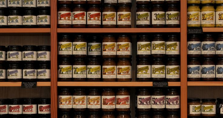 Tracklements artisan condiments; chutneys, relishes, pickles, mustards...