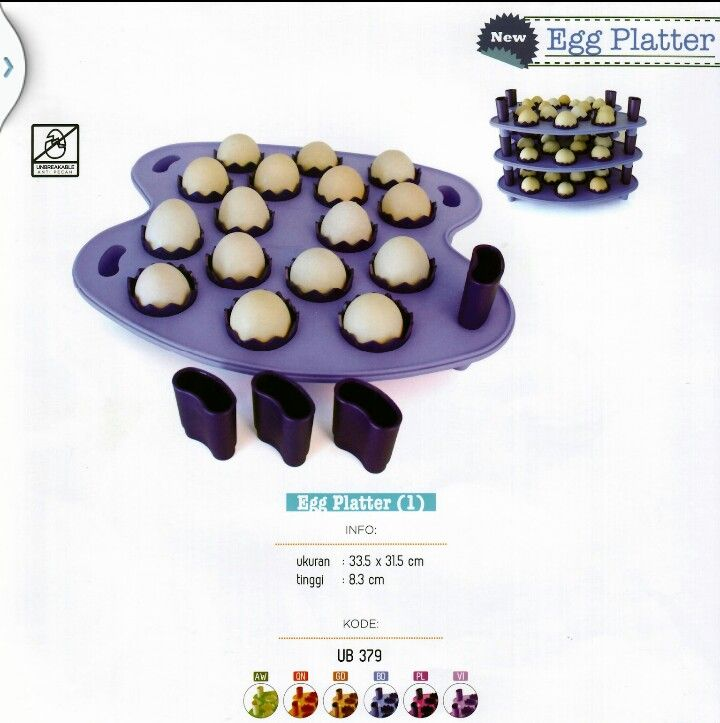 Telur Tertata Rapi dan Cantik dengan EGG PLATTER Twin Tulipware.. HARGA HEBOH dari 218,000 jadi 145,500... yuk diorder..!!!