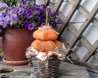 Primitiva zucca - zucca di Halloween - Decor primitivo - primitivo Halloween Decor - decorazione primitiva caduta - primitivo - arte popolare bambola
