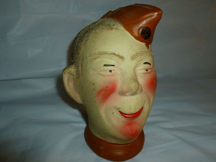 Vintage 1940s Ceramic Head Planter Quot Elmer Quot Wwii Soldier