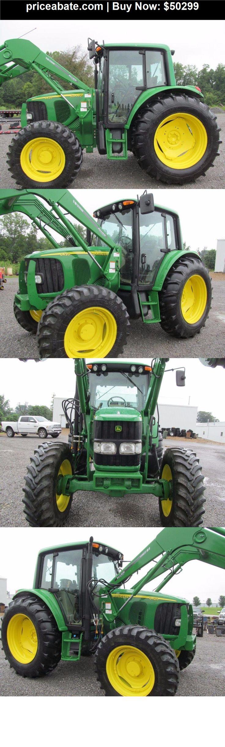 Heavy-Equipments: John Deere 6420 Diesel Tractor 4 X 4 With Cab & Corner Exhaust - BUY IT NOW ONLY $50299
