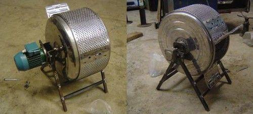 Got an old washing machine lying around? Turn it into a coffee bean roaster.