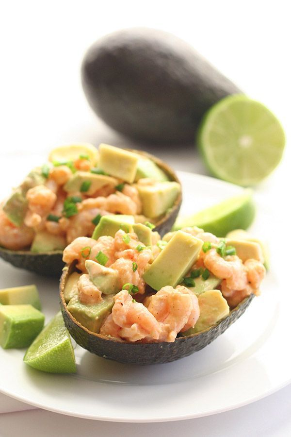 Shrimp stuffed avocados are about to become your new favorite lunch. Get the recipe from All Day I Dream About Food.