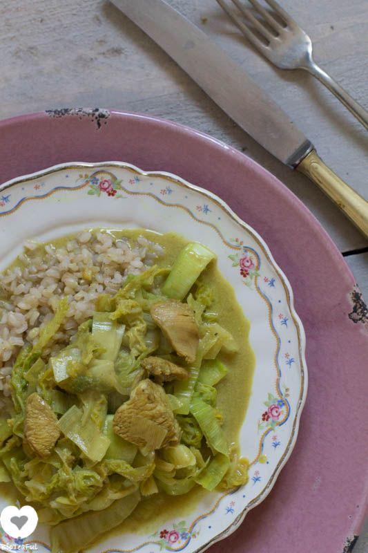 recept Oosterse chinese kool met kokosmelk