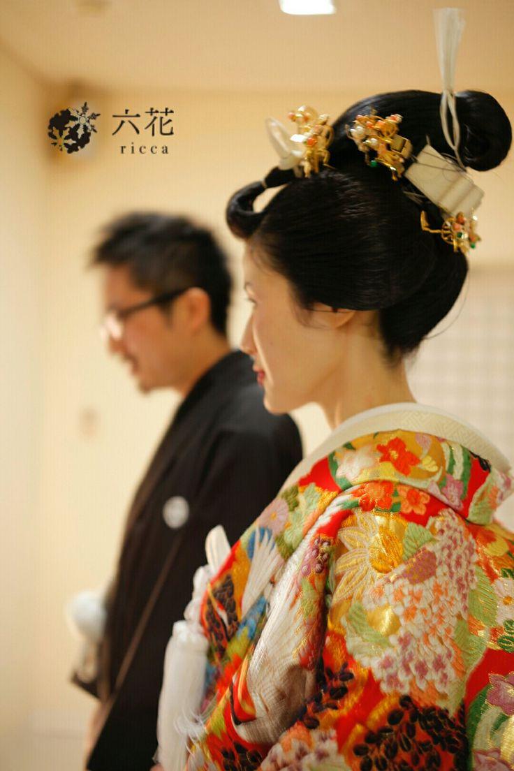 婚礼・フォトウエディング 色打掛 日本髪地毛結い