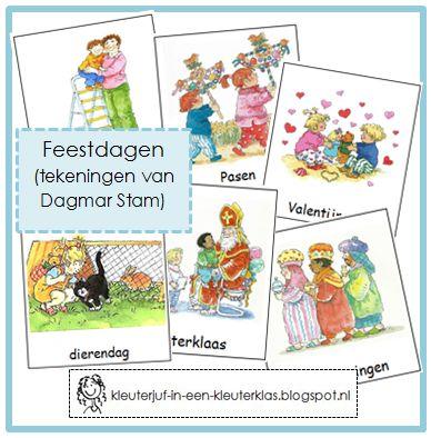 Woordkaarten FEESTDAGEN (Dagmar Stam) (kan ook in het Duits)