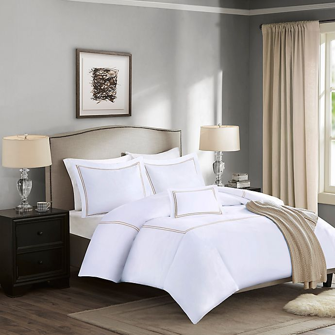 Madison Park Signature 1000 Thread Count 5 Piece Embroidered Comforter Set Bed Bath Beyond Embroidered Duvet Cover Comforter Sets King Comforter Sets