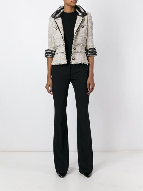 Chanel Vintage твидовый пиджак с бахромой