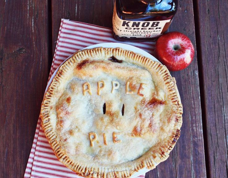 Spiced bourbon apple pie. (Love the letters on the crust. Adorable!)
