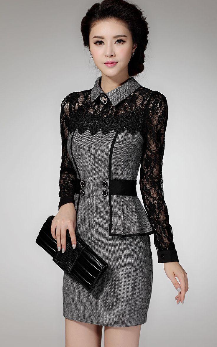 Elegant Classical lace temperament package hip dress
