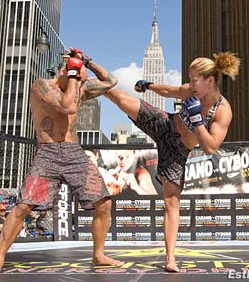 world champion Cristiane Cyborg sparring with her husband ~ inspirational!