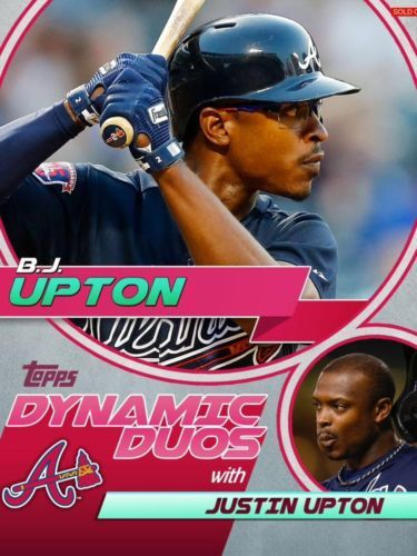 Topps Bunt Dynamic Duos B J Upton Justin Upton Braves RARE Only 425 Exist | eBay