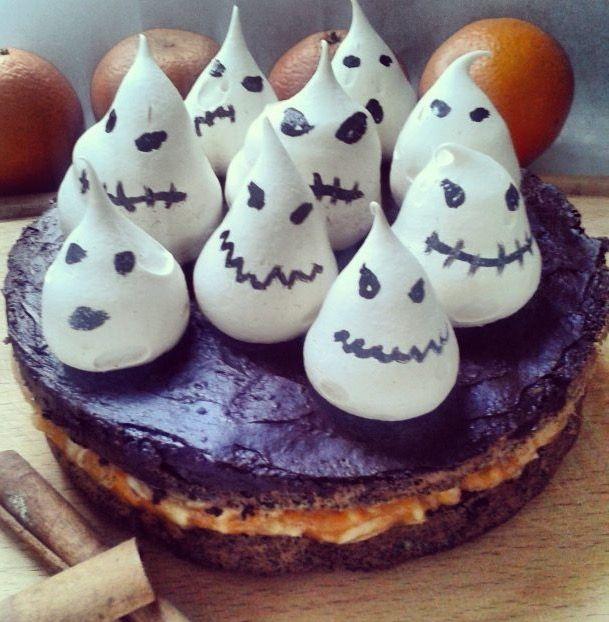 Gluténmentes halloween torta 👻