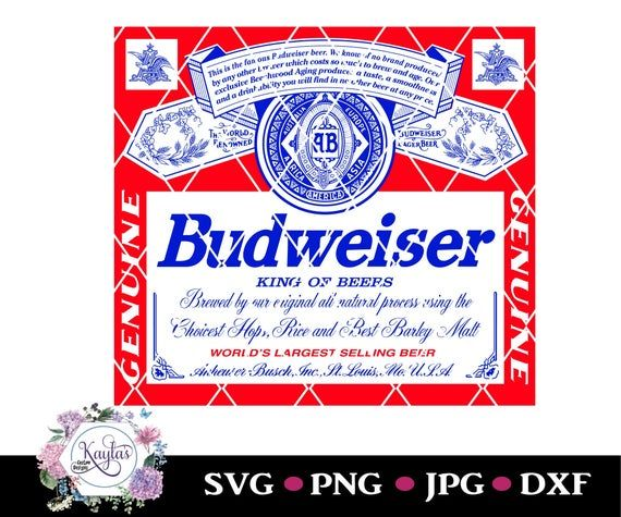 Budweiser Can Logo Tumbler Decal Png Svg Dxf Instant Download Waterslide Clip Art Silhouette Budweiser Beer Logo Tumbler Decal