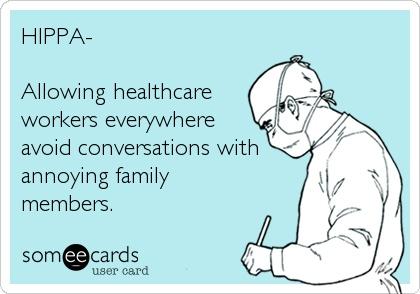 Thank you, Mr. HIPPA . Ha Ha this is funny.