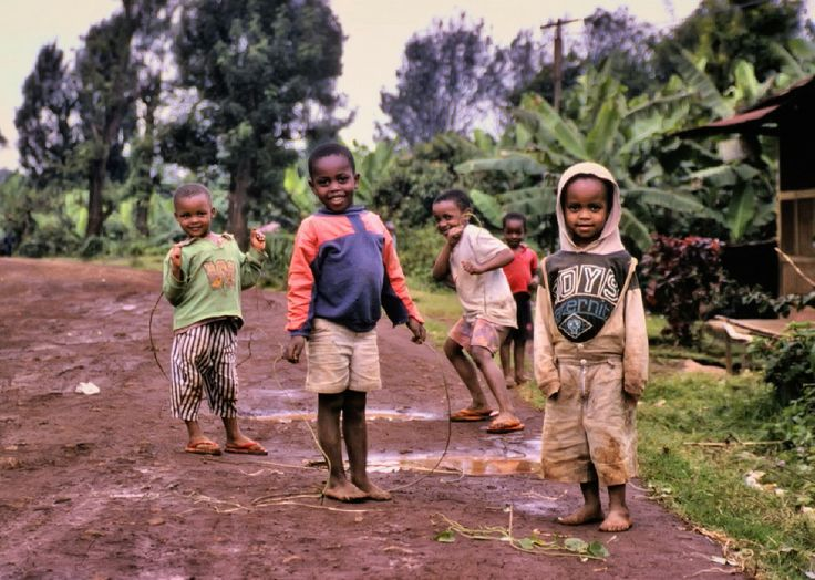 Some awesome Chagga kids in rural Tanzania. I was muddier than they were.