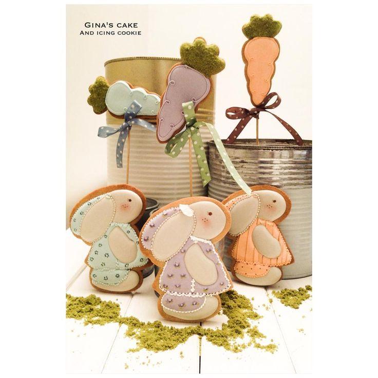 icingcookies#sugarcookies #アイシングクッキー#Sweet bunnies