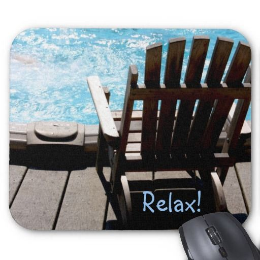 Pool & Deck Chair Mousepad by lasgalenarts