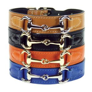 Hartman & Rose In the Style Gucci Style Leather Dog Collar - PetSmart - I like the black and gold one