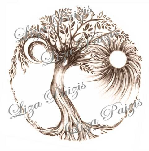Tree of Life Tattoo design by Liza Paizis by TattooMagic on Etsy