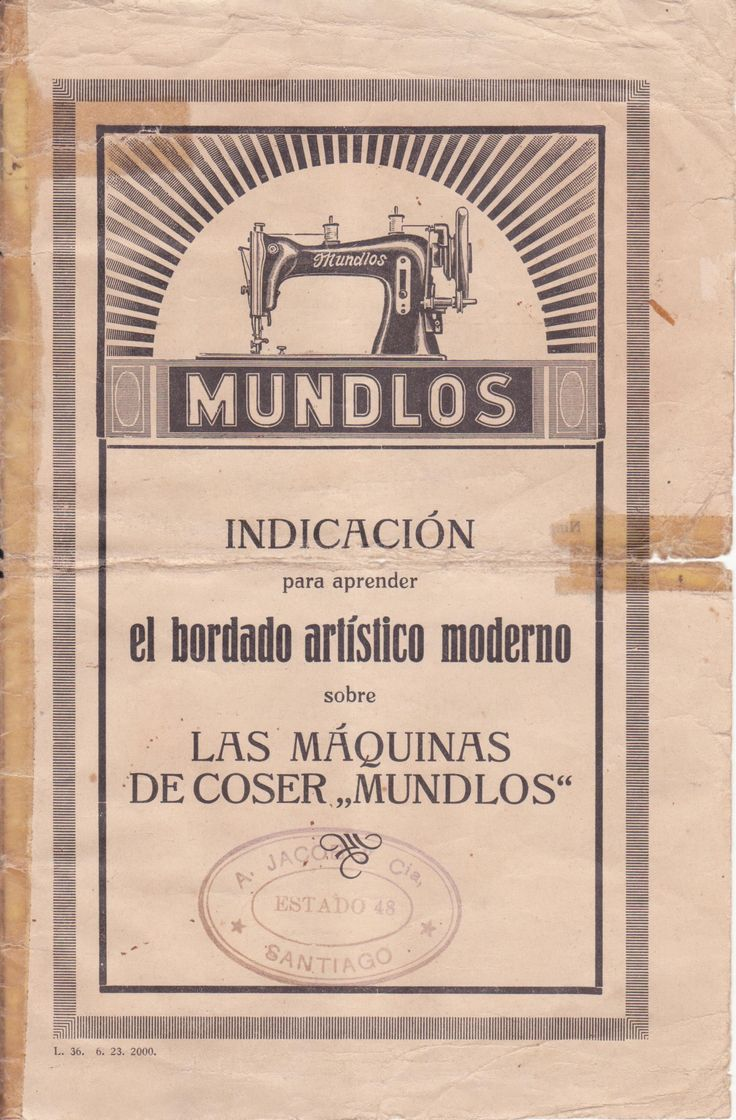Folleto máquina de coser Mundlos 1920