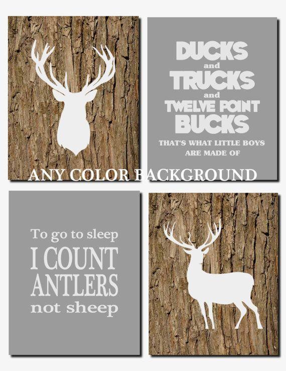 Ducks and Trucks and Eight Point Bucks Baby Boy by vtdesigns
