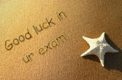 Good luck in your exams