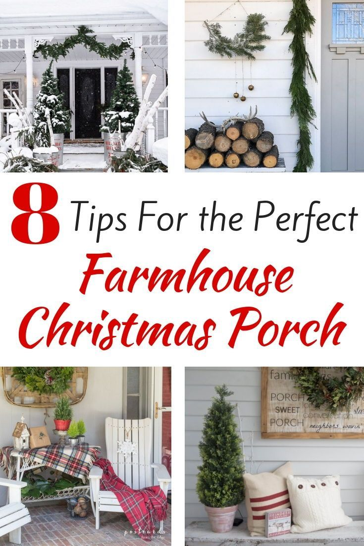 Stunning Farmhouse Christmas Front Porch Ideas That Will Take You Through Winter Restore Create Renovate Front Porch Christmas Decor Christmas Decorations Rustic Christmas Front Porch