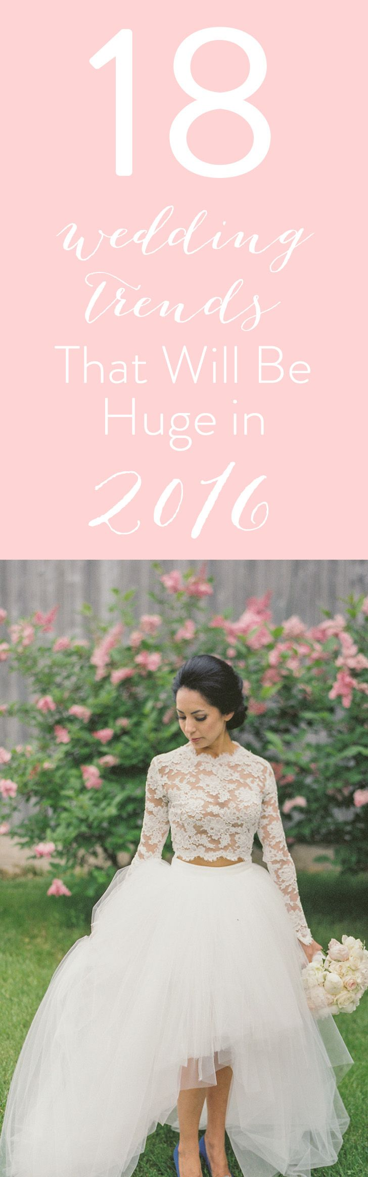 The top 2016 wedding trends are here! Which are your favorites? http://www.stylemepretty.com/2016/01/01/wedding-trend-predictions-2016/